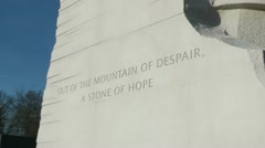 """A Stone of Hope"" push in to quotation Stock Footage"