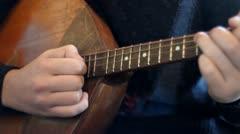 Play on balalaika Stock Footage