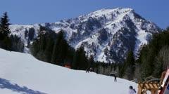 Mountain Valley Ski Resort - stock footage