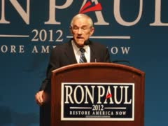 Ron Paul 2012 in Topeka, KS Stock Footage