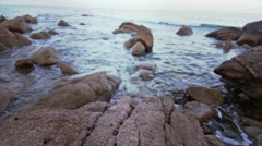 Rocks of the sea Stock Footage