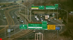 Traffic Washington D.C. Reagan National Airport - stock footage