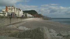 Devon coast, light changing Stock Footage