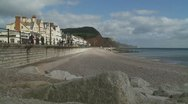 Stock Video Footage of Devon coast, light changing
