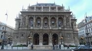 The Hungarian State Opera House, Budapesta, Ungary Stock Footage