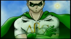 SuperHero, educational, ABC - stock footage