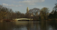 Bow Bridge in Central Park New York 4K Stock Footage