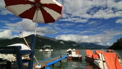 Annecy lake France - stock footage