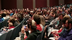Audience at Ron Paul 2012 Event in Topeka, KS Stock Footage