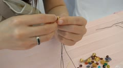Bead hand made - stock footage