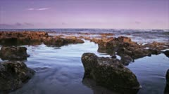 Rocks by ocean 1 Stock Footage