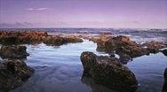 Rocks by ocean 1 Stock Footage