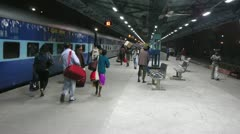 Indian railway station Stock Footage