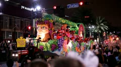 Ruby Vintage in Mardi gras parade Stock Footage