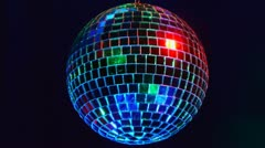 rotating disco mirror ball - stock footage
