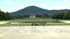 Canberra war memorial in a distance Stock Footage