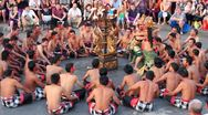 Stock Video Footage of Balinese Kecak dance also known as Ramayana Monkey Chant, Bali