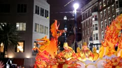 Hermes Parade Float in 2012 Mardi Gras Stock Footage