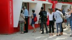 Entrance to La Biennale in Venice, Italy Stock Footage