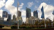Stock Video Footage of Sydney highrise and flags.mp4