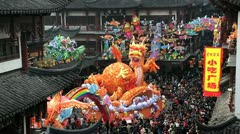 Chinese New Year, Shanghai, China, Asia - stock footage