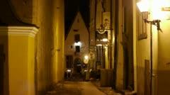 Medieval street Stock Footage