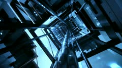 Elevator, Camera in Lift Shaft - stock footage