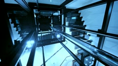 Elevator, Lift Shaft - stock footage