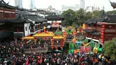 Chinese New Year, Shanghai, China, Asia Stock Footage
