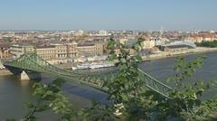 Timelapse of Liberty Bridge, Budapest, Hungary Stock Footage