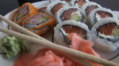 Sushi, Japanese Foods, Cuisine, Gourmet, Eat Stock Footage