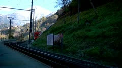 Swiss Mountain Train - stock footage
