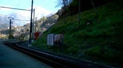 Swiss Mountain Train Stock Footage