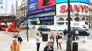 Picadilly Circus London Stock Footage