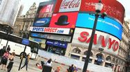 Picadilly Circus London tilt Stock Footage