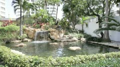 Four Ambassadors Waterfall at Brickell Miami Stock Footage