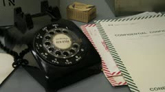 Genuine Cold War Rotary Phone - stock footage