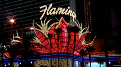 Vegas Neon Signs - stock footage