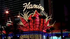 Vegas Neon Signs Stock Footage