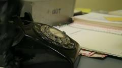 Retro Rotary Phone Stock Footage