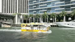 Water Taxi in Miami Stock Footage