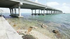 Water under the bridge Stock Footage