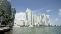 Skyscrapers on Brickell Miami Stock Footage