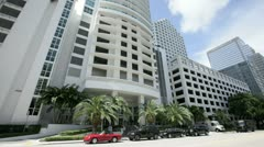 Plaza Condo on Brickell Bay Drive - stock footage