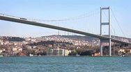 Istanbul Bosporus Bridge Stock Footage