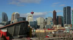 Timelapse Calgary from Scotsman's Hill - stock footage