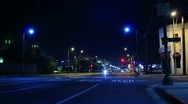 Stock Video Footage of Night Traffic Timelapse 02 Loop Los Angeles Downtown