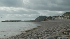 English seaside, Devon landscape Stock Footage