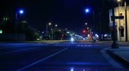 Stock Video Footage of Night Traffic Timelapse 05 TU Los Angeles Downtown