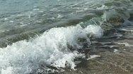 Crashing Waves hitting the shore Stock Footage